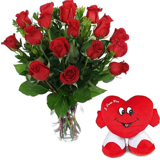 18 Rosas y Corazón