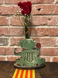 Dragón Madera 1 Rosa