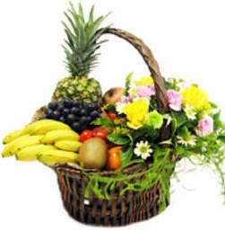 Cesta de Frutas y Flores n º 17